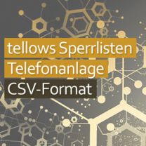 tellows Sperrlisten Telefonanlage CSV